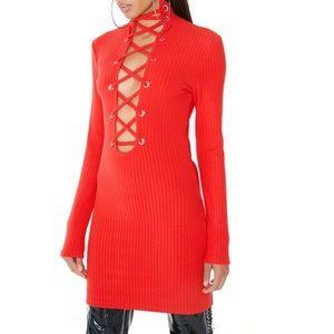 NWT I.AM.GIA iamgia holiday red Yoko dress M
